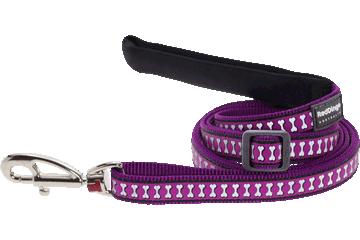 Red Dingo 可调长度拉带 Reflective Bones Purple L6-RB-PU