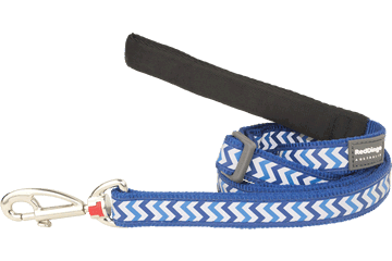 Red Dingo Adjustable Lead Reflective Ziggy Dark Blue L6-RZ-DB