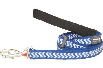 Red Dingo Adjustable Lead Reflective Ziggy Dark Blue L6-RZ-DB