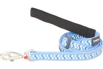 Red Dingo Adjustable Lead Reflective Ziggy Medium Blue L6-RZ-MB