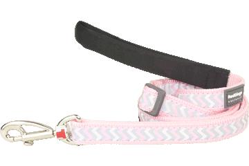 Red Dingo Adjustable Lead Reflective Ziggy Pink L6-RZ-PK