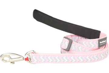Red Dingo Adjustable Lead Reflective Ziggy Pink L6-RZ-PK