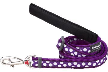 Red Dingo Adjustable Lead White Spots Purple L6-S5-PU