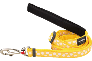 Red Dingo Adjustable Lead White Spots Yellow L6-S5-YE