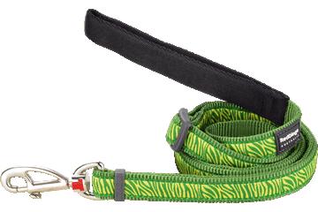 Red Dingo Adjustable Lead Safari Green L6-SA-GR