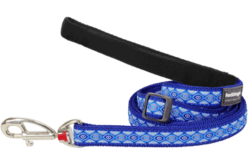 Red Dingo Adjustable Lead Snake Eyes Dark Blue L6-SE-DB