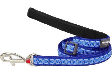 Red Dingo Adjustable Lead Snake Eyes Dark Blue L6-SE-DB