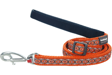 Red Dingo Adjustable Lead Snake Eyes Orange L6-SE-OR