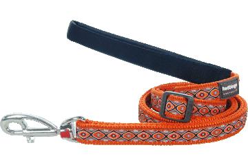 Red Dingo Adjustable Lead Snake Eyes Orange L6-SE-OR