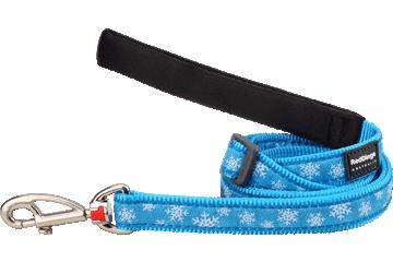Red Dingo Adjustable Lead Snow Flake Turquoise L6-SF-TQ