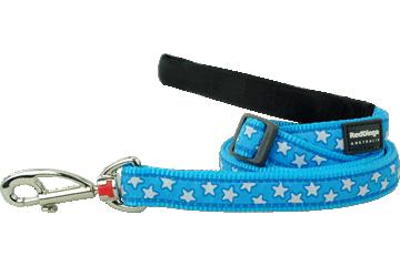 Red Dingo Adjustable Lead Stars Turquoise L6-ST-TQ