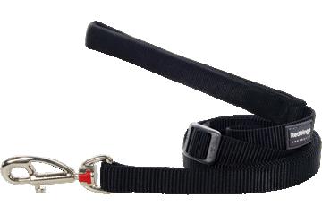 Red Dingo Adjustable Lead Classic Black L6-ZZ-BB