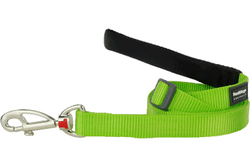 Red Dingo Adjustable Lead Classic Lime Green L6-ZZ-LG