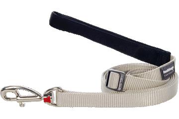 Red Dingo Adjustable Lead Classic Silver L6-ZZ-SI