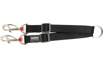 Red Dingo Coupler Lead Klassiek zwart LC-ZZ-BB ( /  /  / )