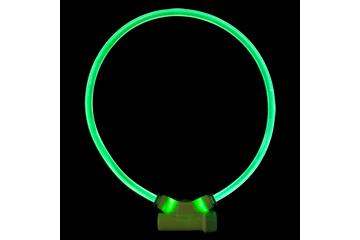 Red Dingo Lumitube Illuminated Dog Safety Collar Bright Green LT-ZZ-GR