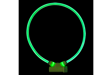 Red Dingo Lumitube Illuminated Dog Safety Collar Bright Green LT-ZZ-GR