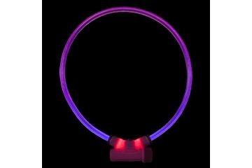 Red Dingo Lumitube Illuminated Dog Safety Collar Bright Purple LT-ZZ-PU