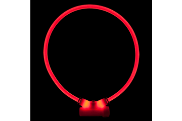 Red Dingo Lumitube Illuminated Dog Safety Collar Bright Red LT-ZZ-RE
