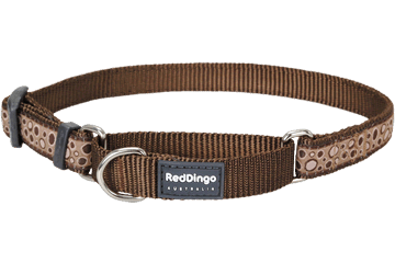 Red Dingo Zug-Stop Halsband Bedrock Braun MC-BE-BR