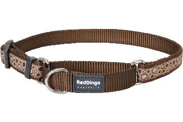 Red Dingo Martingale Collar Bedrock Brown MC-BE-BR