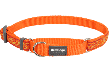 Red Dingo Martingale Collar Bedrock Orange MC-BE-OR