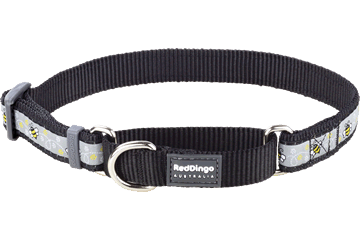 Red Dingo Martingale Collar Bumble Bee Black MC-BM-BB