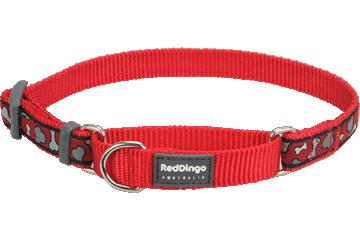 Red Dingo Martingale Collar Bonarama Red MC-BR-RE