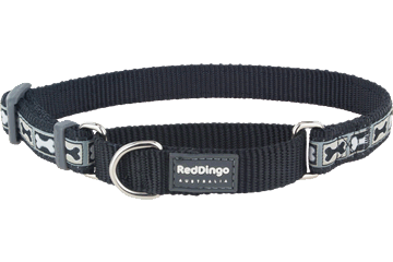 Red Dingo Martingale Collar Bone Yard Black MC-BY-BB