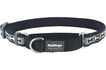 Red Dingo Martingale Collar Bone Yard Black MC-BY-BB