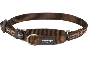 Red Dingo Martingale Collar Bone Yard Brown MC-BY-BR