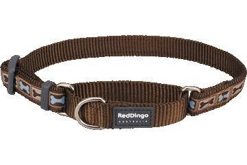 Red Dingo Martingale Collar Bone Yard Brown MC-BY-BR