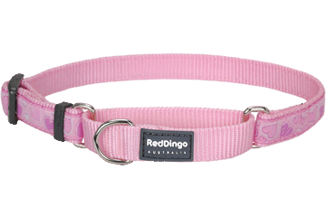 Red Dingo Zug-Stop Halsband Breezy Love Pink MC-BZ-PK