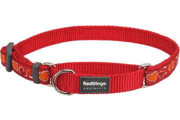 Red Dingo Martingale Halsband Breezy Love rood MC-BZ-RE