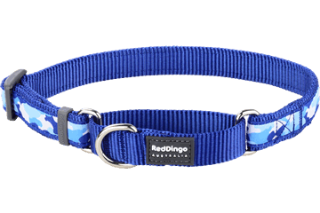 Red Dingo Martingale Collar Camouflage Dark Blue MC-CF-DB
