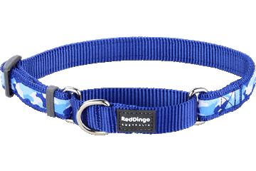 Red Dingo Martingale Collar Camouflage Dark Blue MC-CF-DB