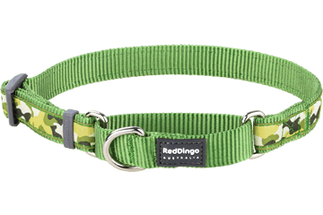 Red Dingo Martingale Collar Camouflage Green MC-CF-GR
