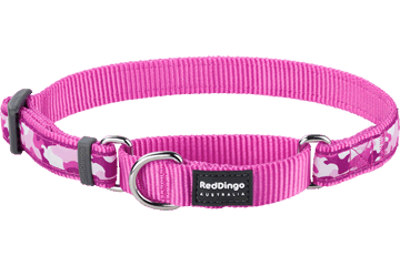 Red Dingo Zug-Stop Halsband Camouflage Hot Pink MC-CF-HP