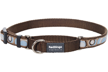 Red Dingo Martingale Collar Circadelic Marron MC-CI-BR