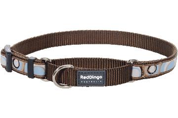 Red Dingo Martingale Collar Circadelic Brown MC-CI-BR