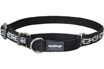 Red Dingo Martingale Collar Chain Black MC-CN-BB