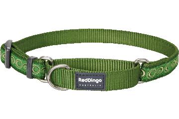 Red Dingo Martingale Collar Cosmos Green MC-CO-GR
