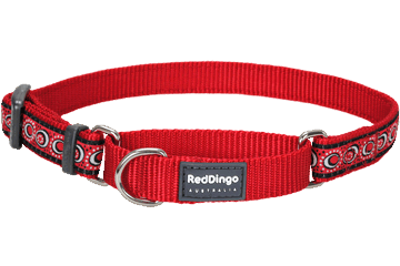 Red Dingo Martingale Halsband Cosmos rood MC-CO-RE