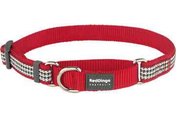 Red Dingo Zug-Stop Halsband Fang It Rot MC-FG-RE