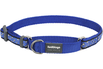 Red Dingo Martingale Collar Flying Bones Dark Blue MC-FL-DB