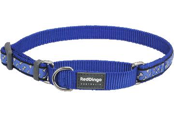 Red Dingo Martingale Collar Flying Bones Dark Blue MC-FL-DB