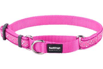 Red Dingo Martingale Collar Flying Bones Hot Pink MC-FL-HP