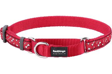 Red Dingo Martingale Collar Flying Bones Red MC-FL-RE