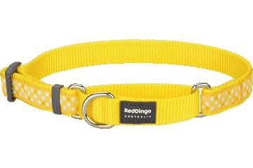 Red Dingo Martingale Collar Gingham Yellow MC-GI-YE