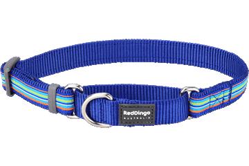 Red Dingo Martingale Collar Horizontal Stripes Dark Blue MC-HO-DB